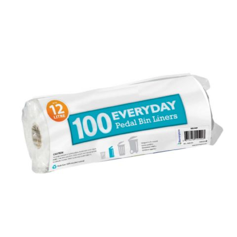 100 Pack Small 8L to 12L Bathroom Bin Liners